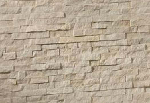Arctic white stone/tile walls.