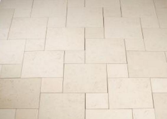 Limestone pavers.