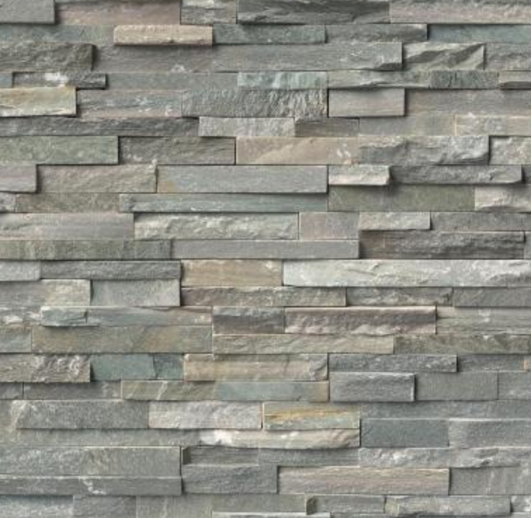 Delightful Bluestone Looking Stacked Stone. It Ended Up A Little More Green Than In  Pic.